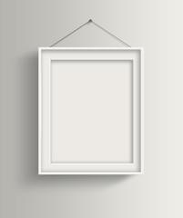 White frames on white wall