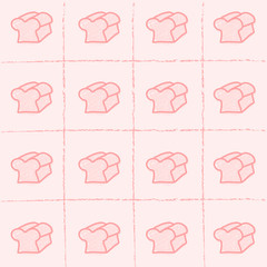 Pink Comic Bread Background Vector EPS10, Great for any use.