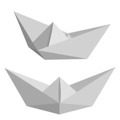 Set of paper ships