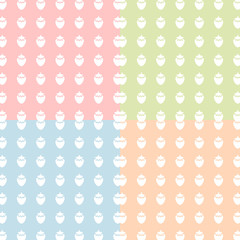Sweet strawberry Color Polka Dot Vector EPS10, Great for any use.