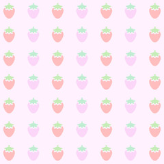 Pink Strawberry Background Pattern Vector EPS10, Great for any use.