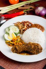 Nasi Lemak Ayam Rendang