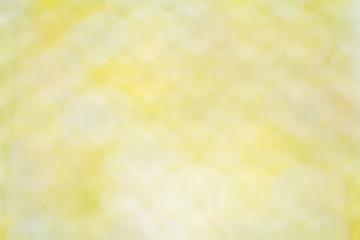 Blurred yellow bokeh background
