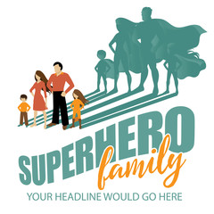 Superhero Family design EPS 10 vector
