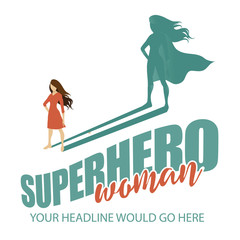 Superhero woman design template EPS 10 vector