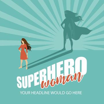 Superhero woman design template EPS 10 vector