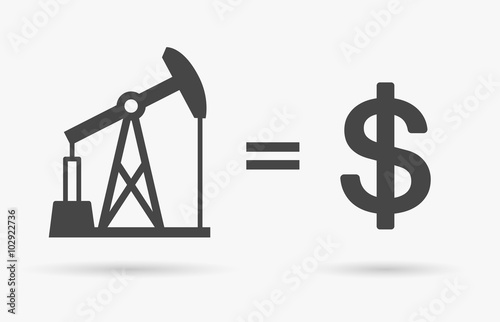 Crude Oil Sign Equals Dollar Currency Symbol Value Of Oil Concept