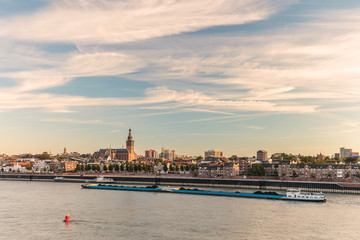 The Dutch city of Nijmegen during sunset