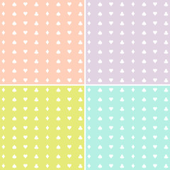 Polka dot pattern 4 colors set Vector EPS10, Great for any use.