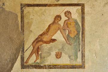 Fresco in the ruins of Pompeii