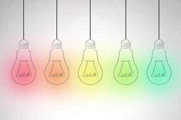group of lights bulb