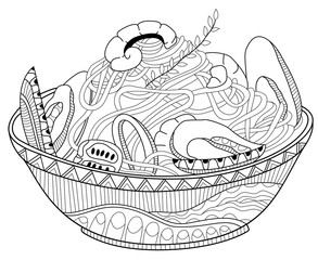 """pasta coloring pages 