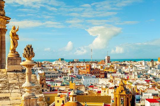 aerial view of Cadiz, Spain
