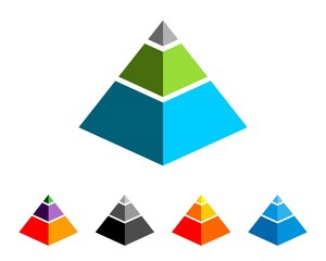 Colorful Pyramid Logo