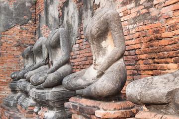 Ancient buddha statue at thailand