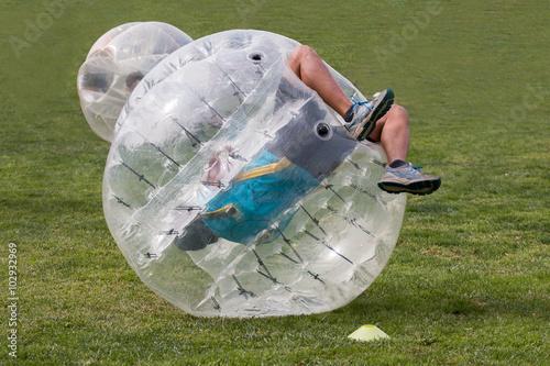 bubble football ball game stockfotos und lizenzfreie bilder auf bild 102932969. Black Bedroom Furniture Sets. Home Design Ideas