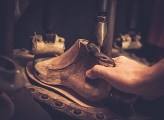 Vintage shoe insole forming press.