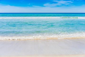 Schöner Strand Meer Wasser Klar Türkis Blau