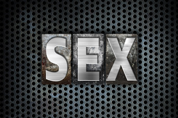 Sex Concept Metal Letterpress Type