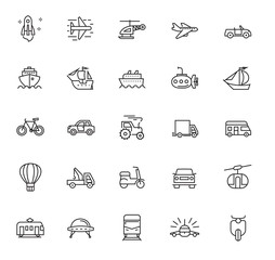 flat transport icons
