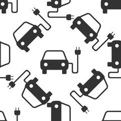 Electric powered car symbol icon pattern