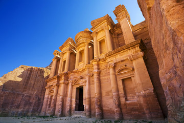 Jordan. Petra (Petra Archaeological Park). Facade of El Deir (the Monastery)