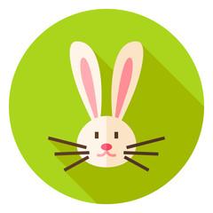 Rabbit Face Circle Icon