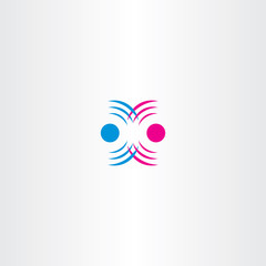 radio waves interference vector icon