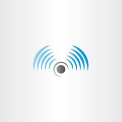radio waves vector logo icon