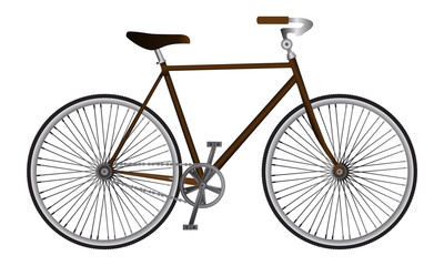 Illustrated isolated realistic vector sport bicycle