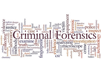 Criminal Forensics, word cloud concept 2