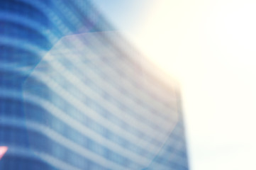 Business blurred background with city building
