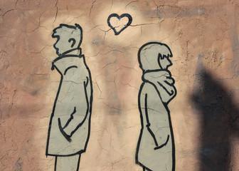 Mann und Frau Krise in Beziehung und Parnterschaft