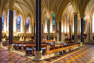Ireland, Dublin, the St Patrik's cathedral interior