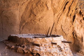 Kiva Within Alcove House at Bandelier National Monument, New Mexico, USA.