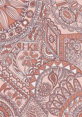 Fantasy abstract motif ornamental pattern