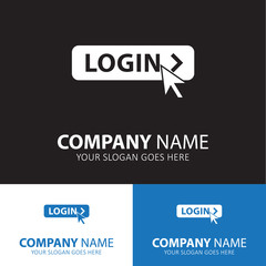 Login with mouse icon for web and mobile