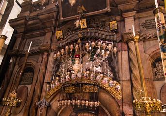 JERUSALEM - Juli 13: Greek Chapel of the Church of Holy Sepulchr