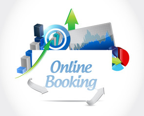 online booking business graphs sign concept