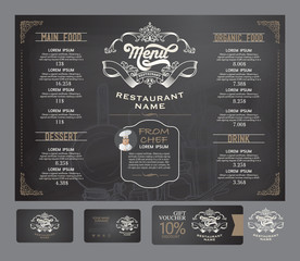 Restaurant menu template.
