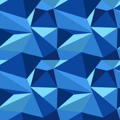 polygonal blue pattern
