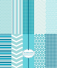 Repeating patterns for digital paper, scrapbooking, stationery, cards, invitations, gift wrap, backgrounds and borders. File includes: honeycomb prints, stripes, plaid/gingham, dots and chevrons.