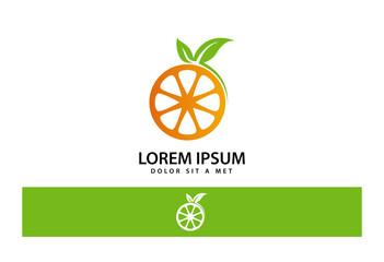 Orange Juice Logo Vector
