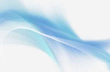 Light blue and white abstract background with mesh and smooth lines