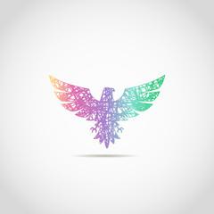 Color eagle for web. logo sign