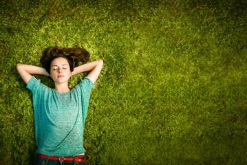 young women enjoying nature