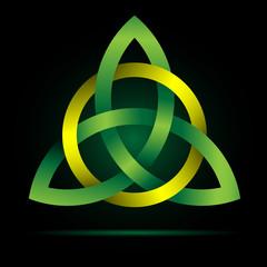 Triquetra. Celtic Trinity Knot.