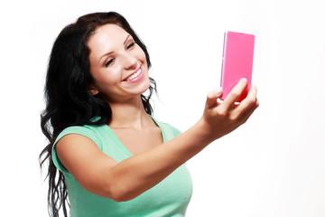 girl taking selfies