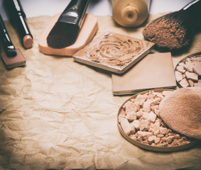 Makeup products to even out skin tone and complexion frame