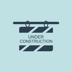 Icon of Under Construction Billboard. EPS-10.